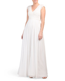 FRENCH CONNECTION Palmero Bridal Cap Sleeve Long D