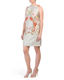 MAX STUDIO Butterfly Floral Jacquard Dress