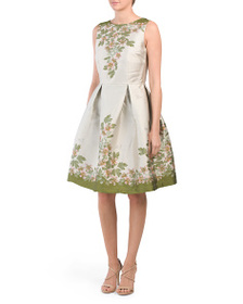 MAX STUDIO Stacked Floral Jacquard Cocktail Dress
