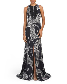 JUST CAVALLI Made In Italy Long Printed Gown