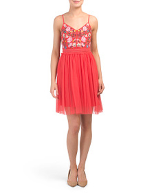 FRENCH CONNECTION Genoa Embroidered Dress
