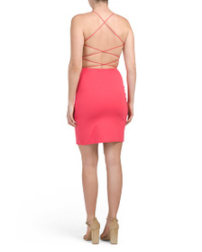 FRENCH CONNECTION Open Back Drape Dress