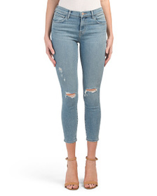 J BRAND Slightly Distressed Cropped Jeans