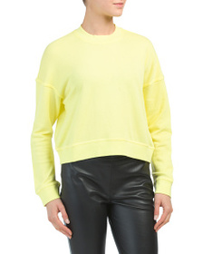 SPLENDID Cropped French Terry Sweatshirt
