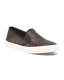 SPERRY Slip On Leather Comfort Sneakers