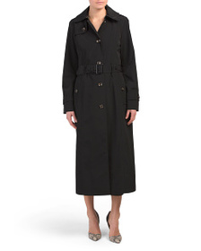 LONDON FOG Long Single-breasted Trench Coat