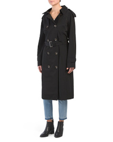 LONDON FOG Petite Long Double Breasted Trench Coat