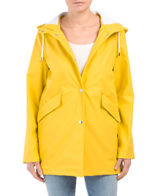 FRENCH CONNECTION Hooded Slicker Jacket