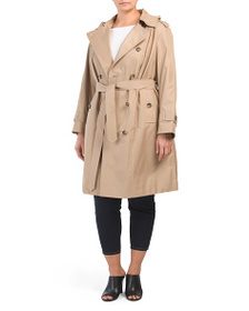 LONDON FOG Plus Double Breasted Trench Coat