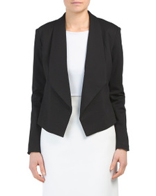PHILOSOPHY Open Front Cropped Woven Blazer