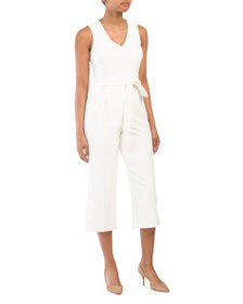 VINCE CAMUTO Belted Jumpsuit