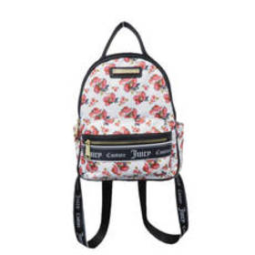 Juicy Couture Varsity Blooms Backpack - White Rose