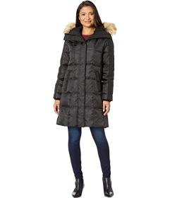 Vince Camuto Heavy Weight Down with Faux Fur Detai