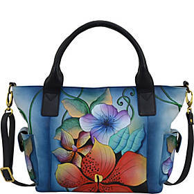 ANNA by Anuschka Hand Painted Leather Large Tote w