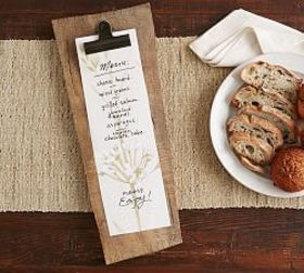 Pottery Barn Menu Clipboard