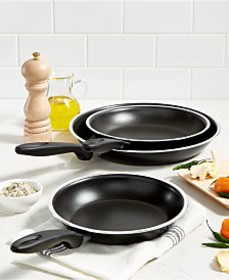 "Tools of the Trade 8"", 9"" & 11"" Fry Pan Set, Creat"