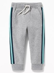 Functional Drawstring Side-Stripe Joggers for Todd