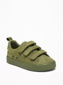 Faux-Suede Triple-Strap Sneakers For Toddler Boys