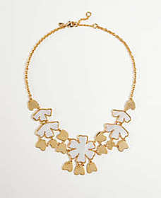 Gingko Flower Statement Necklace