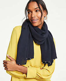 Pleated Pearlized Scarf
