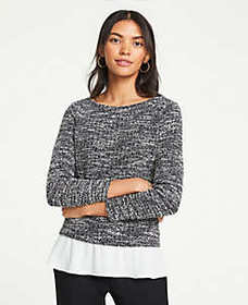 Tweed Two-in-One Top