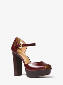Michael Kors Blake Leather Platform Sandal