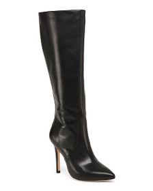 HALSTON HERITAGE Pointed Toe High Shaft Leather Bo