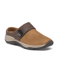 EASY SPIRIT Leather Comfort Button Clog