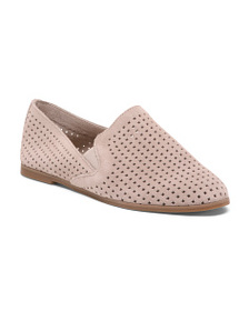 LUCKY BRAND Perforated Pointy Toe Suede Flats