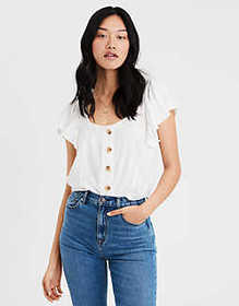 826d4bc02d5 American Eagle AE Button Front Blouse