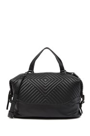 Vince Camuto Tave Quilted Leather Satchel Bag