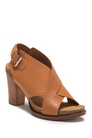 Sofft Cambry Leather Block Heel Sandal