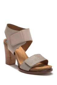 Sofft Cabana Block Heel Leather Sandal