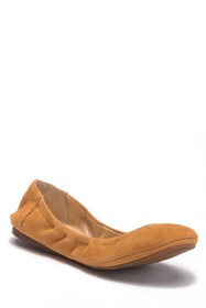 Vince Camuto Ellen Round Toe Leather Flat
