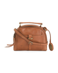 BORN Leather Angelo Dome Satchel
