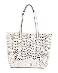 MAX STUDIO Large Tote With Perforated Design