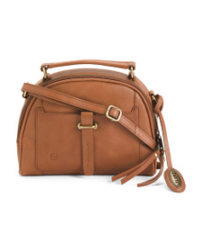 BORN Angelo Dome Leather Satchel