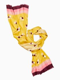 dusk buds silk oblong scarf