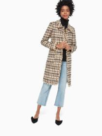 bi-color tweed coat