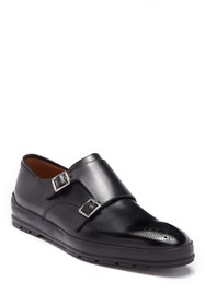 BALLY Rempton Double Monk Strap Leather Loafer