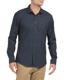 VINCE CAMUTO Long Sleeve Faux Hacking Pocket Shirt