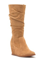 Johnston & Murphy Nicole Wedge Boot (Wide Calf)
