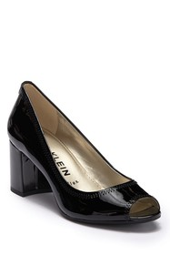 Anne Klein Meredith Patent Leather Open Toe Pump