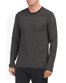 FRENCH CONNECTION Double Face Striped Crew Neck To