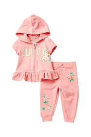 Juicy Couture French Rose Hoodie & Pants Set (Baby