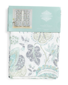ARTISTIC ACCENTS Made In India 42x84 Floral Linen