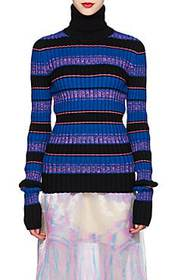 Maison Margiela Striped Rib-Knit Wool-Blend Caged-
