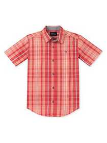 Calvin Klein Jeans Boy's Woven Plaid Short Sleeve