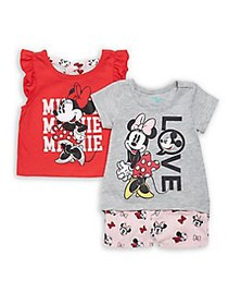 Disney Baby Girl's 3-Piece Minnie Mouse T-shirts &