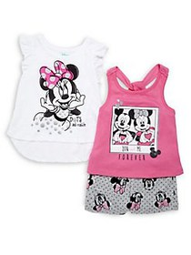 Disney Baby Girl's 3-Piece Minnie Mouse Tops & Sho